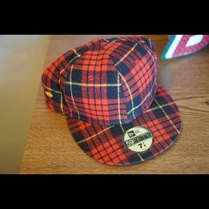 7 7/8 10.Deep Plaid Flannel baseball hat